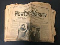 Street Smith New York Weekly Newspaper Lot BERTHA CLAY dime novel stories