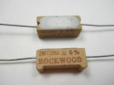 220 ohm 2 Watt 5% Wire Wound Power Resistor (NOS, New Old Stock)(QTY 10 ea)D58