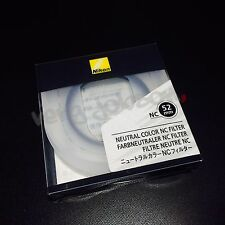 Nikon NC-52 Neutral Color Filter 52mm Protector Reflection Reducing Original New