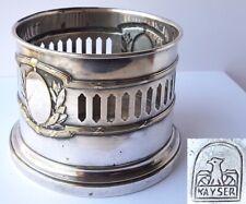 Kayser Bottle Holder/Bottle Stand Silver Plated Brass Um 1920 Al1208