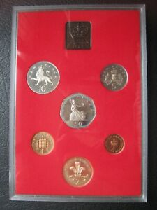 UK British 1981 Proof Coin Set 1/2 - 50 Pence ~ Cased ~ Info Card By Royal Mint