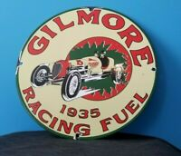 GILMORE STADIUM FIRESTONE PORCELAIN VINTAGE STYLE GASOLINE RACING FUEL OIL SIGN