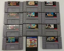 SNES Super Nintendo Game Lot 12 Games Wrestlemania Nba Jam Mickey Speedy Mario
