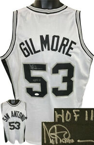Artis Gilmore signed San Antonio White TB Custom Pro Style Jersey HOF 11 - JSA