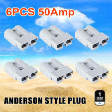 6pcs Anderson Style Plug 50A Exterior Connector DC Power SOLAR CARAVAN