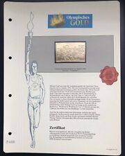 Olympics Los Angeles 1984 USA Gold stamps 99,8% Goldauflage* Only 4.999 MNH 4/9