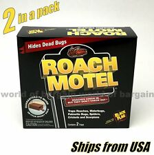 2 pc Black Flag Roach Motel Cockroach Trap Bug Killer Bait Insect Glue Traps H87