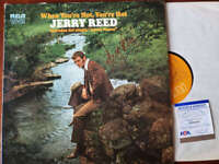 Jerry Reed PSA DNA Coa Signed When You`re Hot You`re Hot Album  Vinyl Autograph