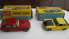 CORGI 345 327 MGC GT & MGB GT ORIGINALE CARS & scatole originali come descritto!!!
