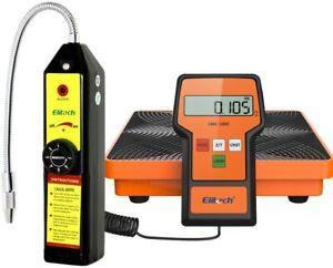 Elitech WJL-6000 Refrigerant Leak Detector + LMC-100F Charging Scale HVAC Tools