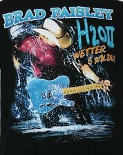 Brad Paisley H2O 2 Wetter and Wilder Concert World Tour Black T-Shirt M