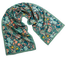 William Morris Golden Lily Green Silk Scarf