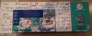 Autographed New York Yankees '96 W.S. Megaticket w/20 signatures!  Jeter, Posada