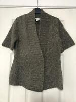 Tweeds Brown Pullover Size Medium Women Short Sleeve Great Condition (F57)