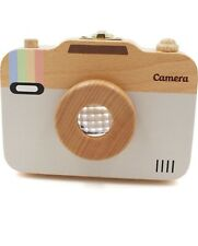 Baby Kids Tooth Teeth Keepsake Box Wood Camera Shaped Unique Unisex Baby Gift