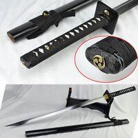 Handmade Japanese Katana Full Tang Blade High Manganese Steel Samurai Swords#200