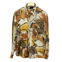 BOOGIE SHIRT SIZE L GEOMETRIC MULTICOLOR BUTTON UP LONG SLEEVE MADE IN ITALY