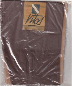 Bas COUTURE SOIE NATURELLE VITOS Noisette. T 1 et T 2. Seamed silk stockings.