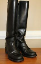 Frye Womens Boots Size 7 M Sabrina Stitch 77385 Black Leather Inside Zip USA
