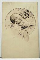 Beautiful Victorian Woman Cobb Shinn Drawing Side Profile 1909 Postcard H18