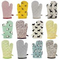 Single Oven Gloves 100% Heat Resistant Cotton Oven Gauntlet Mitts