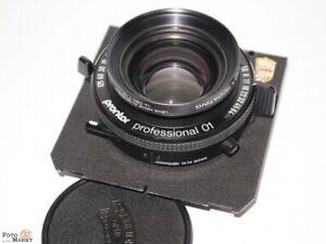 Linhof, Sinar 9x12/4x5 inch Objektiv-Platine Schneider SYMMAR - S 5,6/150 Mc