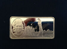 1983 Franklin Mint Babe Didrikson 100 Greatest Americans Silver Bar P2574