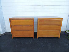Pair of  Large Nightstands End Side Tables Small Dressers  7805