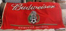 """Budweiser Federacion Mexicana De Futbol Assoc. Flag 34"""" x 58"""" Soccer"""