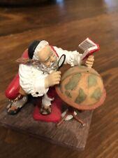 "Norman Rockwell Figurine by David Grossman ""Santa At The Globe"