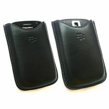 BLACKBERRY BOLD 9000 HDW-16000-002 LEATHER POCKET POUCH CASE - BLACK