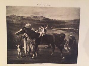 DELACROIX  La lecon d'équitation Reproduction Eau Forte Landolfo Carcano
