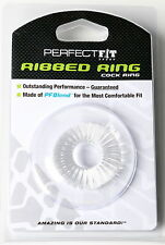 Perfect Fit Ribbed Ring- Ice Clear