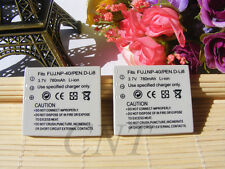 2x NP-40  Battery FOR Fujifilm  NP-40N CGA-S004 D-LI8 SLB0837