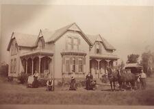 Rare 1895 Pioneer Victorian Homestead Portrait Horses Gentleman Lady & Bicycle