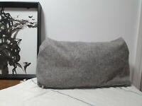 4 x Vintage Grey Long Lumbar Sofa Cushion Covers Lounge Suite
