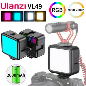 Ulanzi VL49 Dimmable RGB 2500K-9000K LED Video Fill Light Photography Lighting