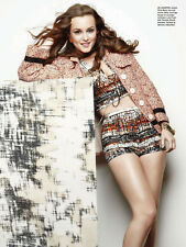 Leighton Meester 6pg + cover SEVENTEEN magazine feature, clippings