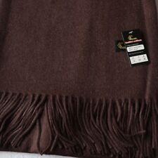 Étole cachemire laine chocolat - châle plaid foulard marron 40% cachemire db470ff2566