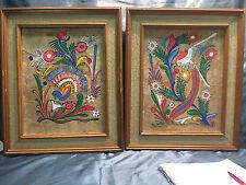 Vintage Acrylic Rio De Janeiro Paintings Birds