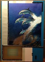 Luxury Handmade Personalised Large A4 BIRTHDAY CARD Dolphins Wild & Free In Sea