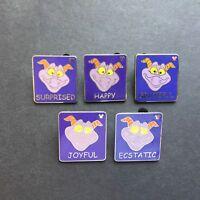 WDW Hidden Mickey Figment Emotions Feelings Set of 5 Disney Pin 56896