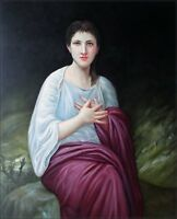 Quality Hand Painted Oil Painting Repro Bouguereau Psyche 20x24in