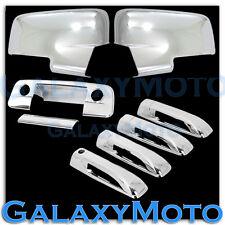 13-17 Dodge Ram Chrome Mirror w/Light+4 Door Handle+Tailgate w. KH w. CM Cover