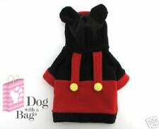 Disney Mickey Mouse Yorkie Chihuahua Dog Coat Fleece Costume Medium WOW M