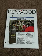 Kenwood TK-280 TK-380 VHF/UHF FM Portable Radio Dealer Sales Brochure Hand-Held