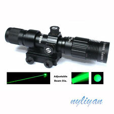 Green Laser Designator Flashlight Illuminator Adjustable Beam 20mm Rail Mounts