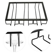 Wine Rack Glass Holder Hanging Bar Cup Hanger Iron Metal Iron Shelf 3 desgins