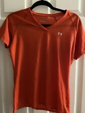 Under Armour Heat Gear Womens Coral Exercise Shirt Size Medium