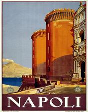 "20x30"" CANVAS Decor.Room art print.Travel shop.Napoli.Italy castle.6053"